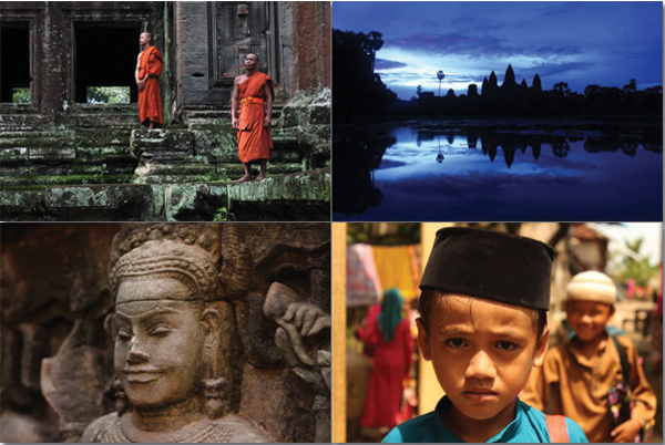 Photo subjects in Angkor