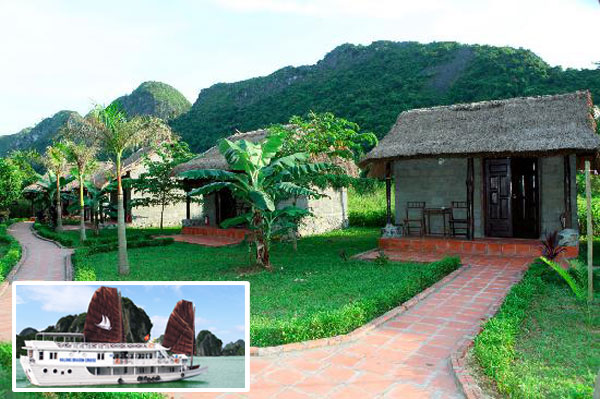 Cat Ba Whisper of Nature bungalow and Halong Cruise