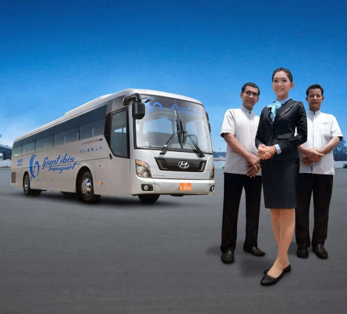Cambodia tour with VIP local bus