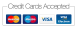 We accept credit card payment via PayPal
