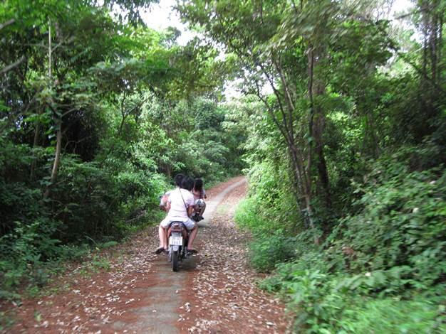 Motorbiking through the island