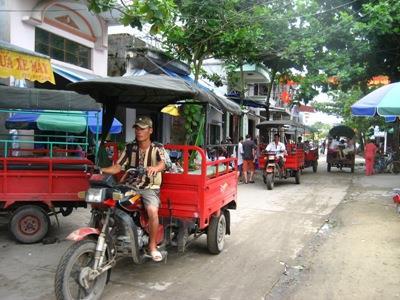 Tuk Tuk transport on Quan Lan island
